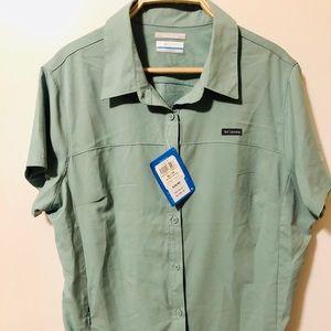 Women's Columbia Meadowgate Short-Sleeve Shirt XL